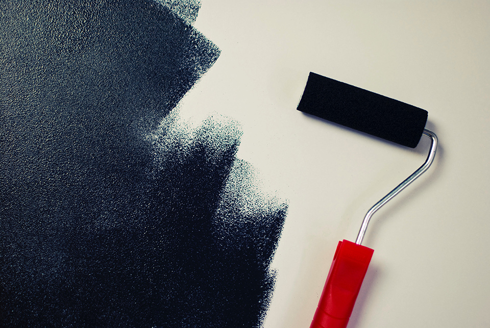 Chalkboard paint and roller